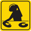Silhouette DJ - Stock Photo