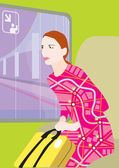 Woman on travel — Stock Photo