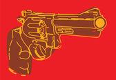 Bruin illustratieve pistool — Stockfoto