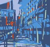 Eine abstrakte gebäude-illustration — Stockfoto