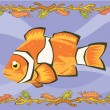 Foto de Stock  : Nemo, clown fish illustrative