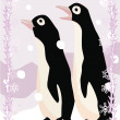 Penguins illustrative — Foto Stock