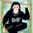 Stock Photo: Ape illustrative