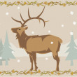 Deer illustrative — Stockfoto #18029823