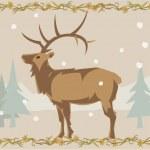 Deer illustrative — Stock Photo