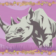 Rhino illustrative — Stockfoto