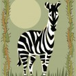 Zebra illustrative — Foto Stock