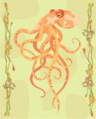 Octopus illustrative — 图库照片