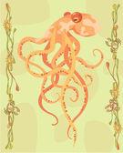 Octopus illustrativen — Stockfoto