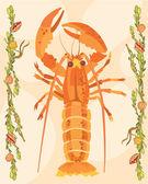 说明性的龙虾 — 图库照片