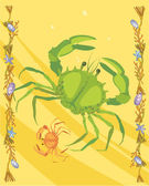 Crabs illustrative — 图库照片