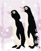 Penguins illustrative — 图库照片