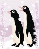 Pingviner belysande — Stockfoto