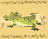 Alligator belysande — Stockfoto