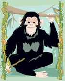 Macaco ilustrativo — Foto Stock