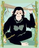 обезьяна иллюстрации — Стоковое фото