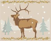 Deer illustrative — 图库照片