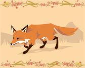 说明性的狐狸 — 图库照片