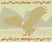 Eagle belysande — Stockfoto