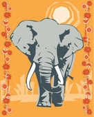 Elephant illustrative — 图库照片