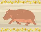 Hippo belysande — Stockfoto