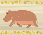 Hippo illustrative — 图库照片