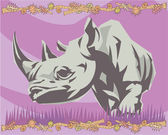 Rhino illustrative — Foto Stock