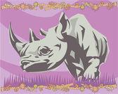 Rinoceronte ilustrativos — Foto Stock