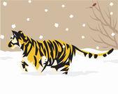 Tiger belysande — Stockfoto