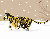 Tiger illustrative — ストック写真