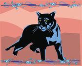 Puma belysande — Stockfoto