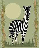 Zebra illustratieve — Stockfoto