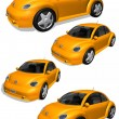 3D cars — Stock Photo