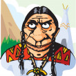 Stock Photo: Red indian