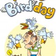Stock Photo: Happy birdday