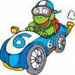 Racing driver tortoise — Stock Photo