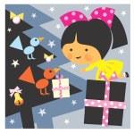 Girl and Christmas — Stock Photo #18508961