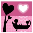 Lovers on boat - Stock Photo