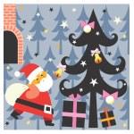 Santa brings presents — Stock Photo