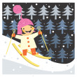 Skiing boy — Stock Photo