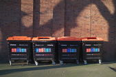 Recycling bins — Stockfoto