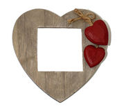 Love shaped not and photo board — Stock Photo