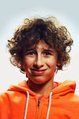 A boy with a funny face — Stock Photo