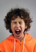 Young boy is shouting — Stock Photo