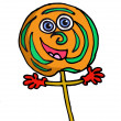 A cartoon lolipop - Stock Photo