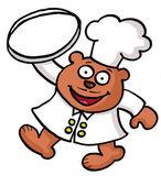 Kreskówka kucharz niedźwiedź — Zdjęcie stockowe