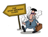 A man goes to a smoking clinic — Stock Photo