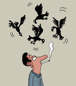 Fumar mata — Foto de Stock