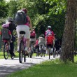 Stock Photo: Group of cyclists in the park