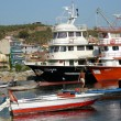 Stock Photo: Fisherman boats docked in a little port
